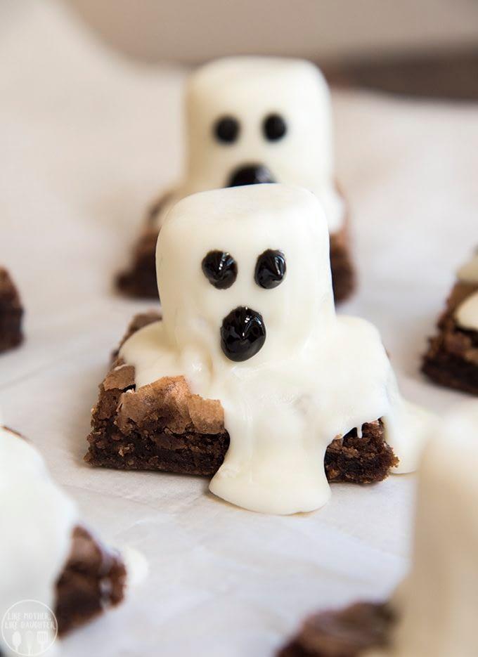 12. Ghost Brownies