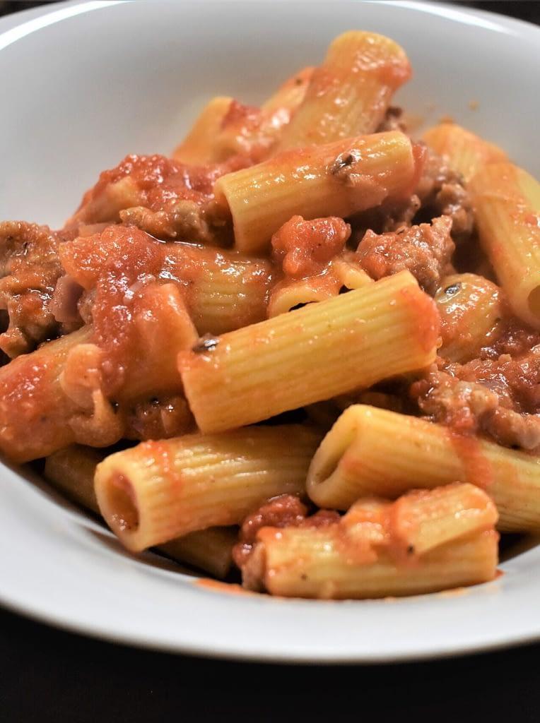 Rigatoni with Italian Sausage and Marinara Cream Sauce