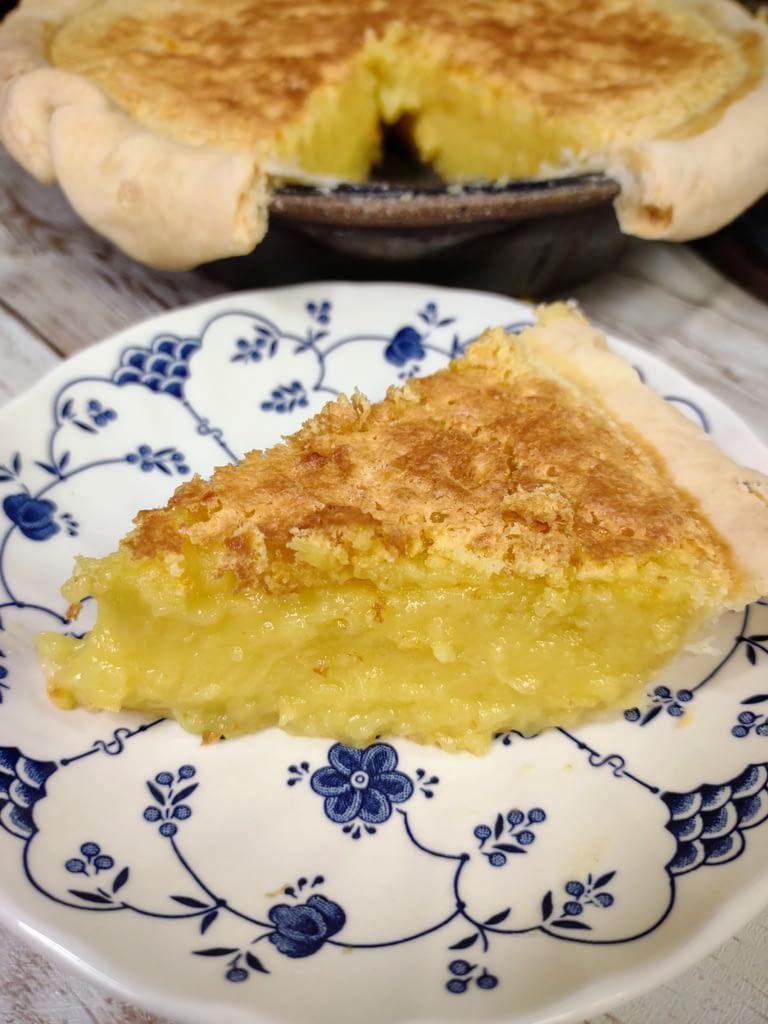 Sunshine pie sliced
