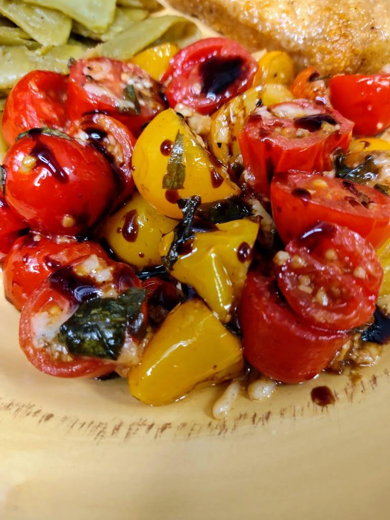 Roasted Tomates Plated