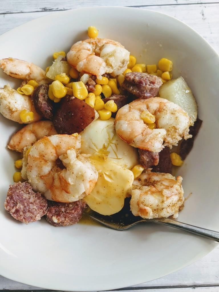 Shrimp Seafood Boil for One